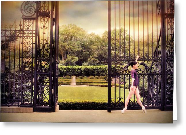 Ballerina Digital Greeting Cards - Ballet at the Vanderbilt Gate Greeting Card by Jessica Jenney