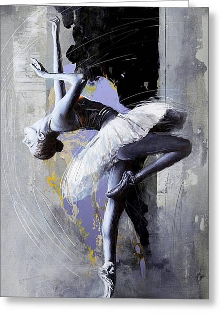 Ballet Dancers Greeting Cards - Ballet Dancer 16 Greeting Card by Mahnoor Shah