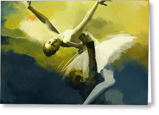 Dance Greeting Cards - Ballet Dancer Greeting Card by Corporate Art Task Force