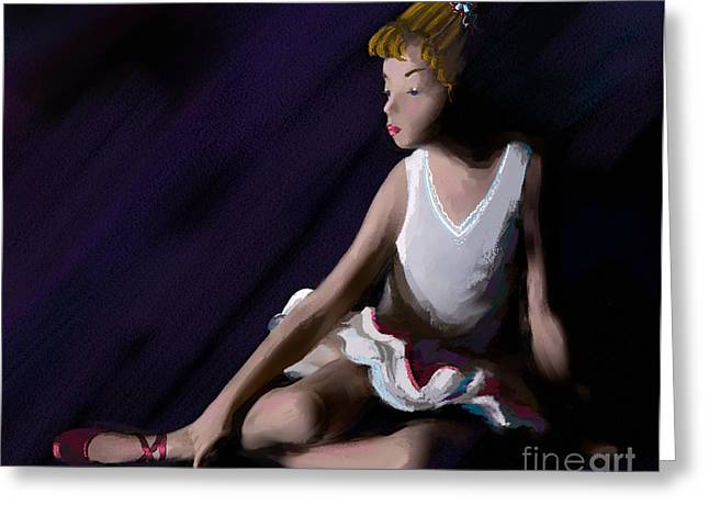 Ballet Dancers Greeting Cards - Ballet Dancer Greeting Card by Michelle Wiarda