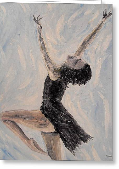 Tablets Greeting Cards - Ballet Dancer Greeting Card by Patrick J Murphy
