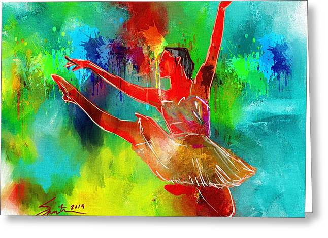 Dress Greeting Cards - Ballet Dancer Greeting Card by Robert Smith