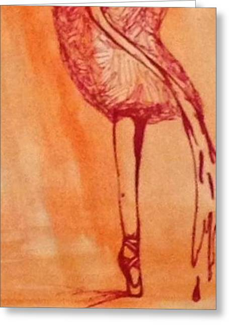 Ballet Dancer Greeting Card by Shelby Robbins