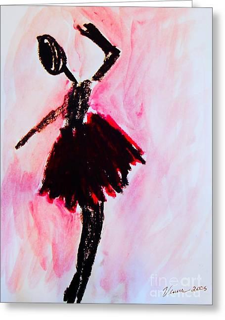 Xxi Art Greeting Cards - Ballet Dancer Greeting Card by Venus