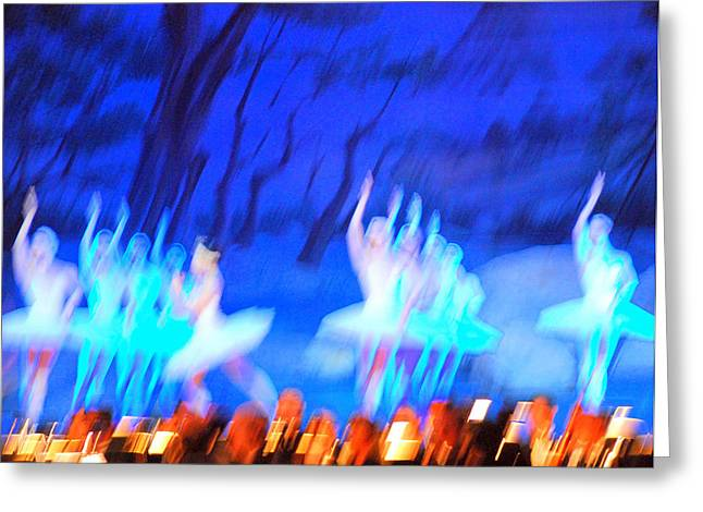 Ballet Dancers Abstract. Greeting Card by Oscar Williams