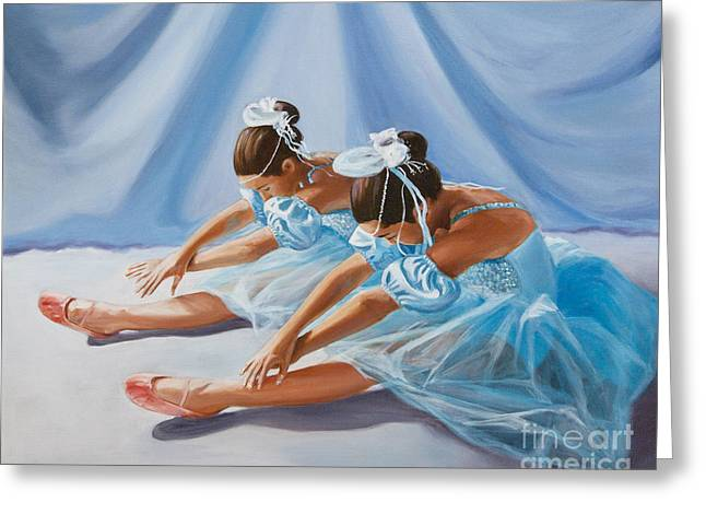 Ballet Dancers Paintings Greeting Cards - Ballet Dancers Greeting Card by Paul Walsh