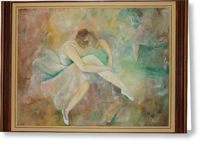 Ballet dancers Greeting Card by Ri Mo