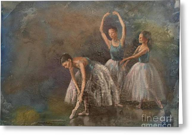 Ballet Dancers Greeting Card by Susan Bradbury