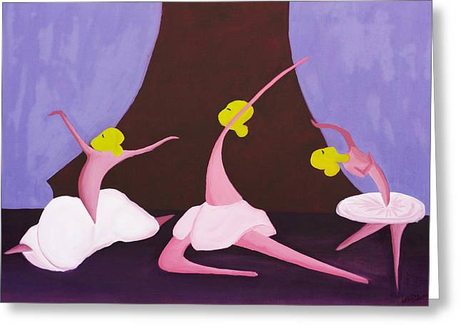 Violate Greeting Cards - Ballet Greeting Card by Esther Osborn
