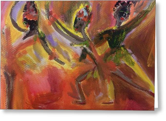 Ballet For Daybreak Greeting Card by Judith Desrosiers