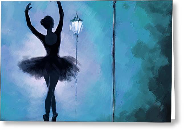 Ballet in the Night  Greeting Card by Corporate Art Task Force