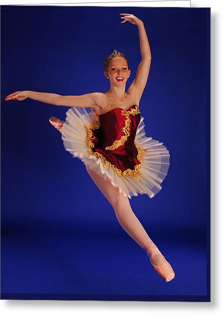Ballet Leap Greeting Card by ARTography by Pamela Smale Williams