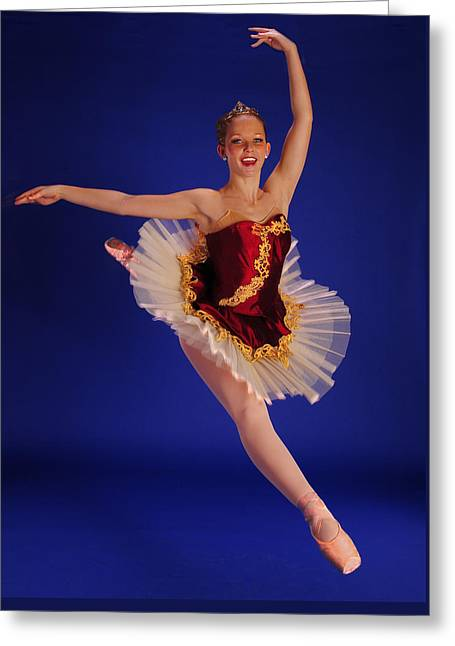 Ballet Dancers Greeting Cards - Ballet Leap Greeting Card by ARTography by Pamela  Smale Williams