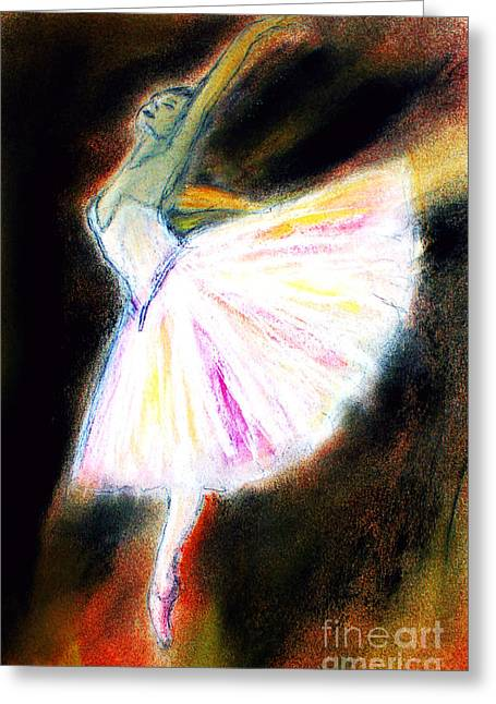 Ballet Dancers Pastels Greeting Cards - Ballet Greeting Card by Michael Cross