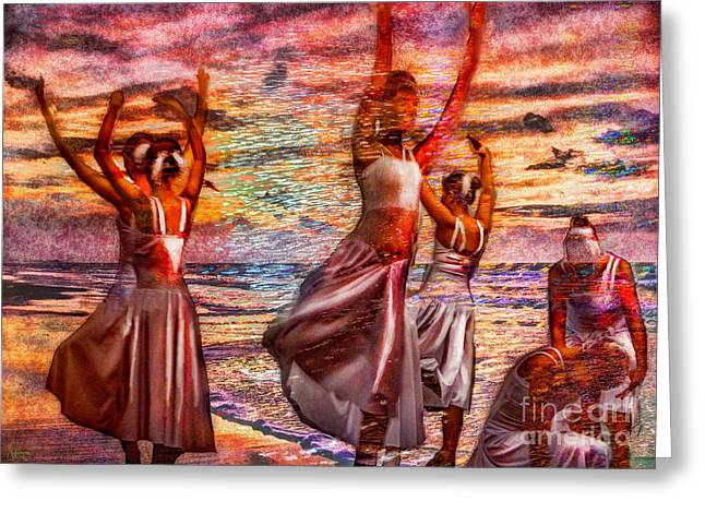 Ballet On The Beach Greeting Card by Jeff Breiman
