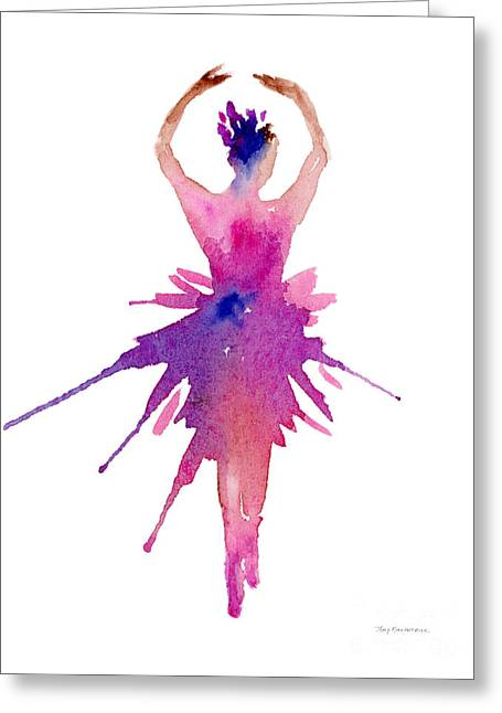 Ballet Dancers Greeting Cards - Ballet Releve Greeting Card by Amy Kirkpatrick