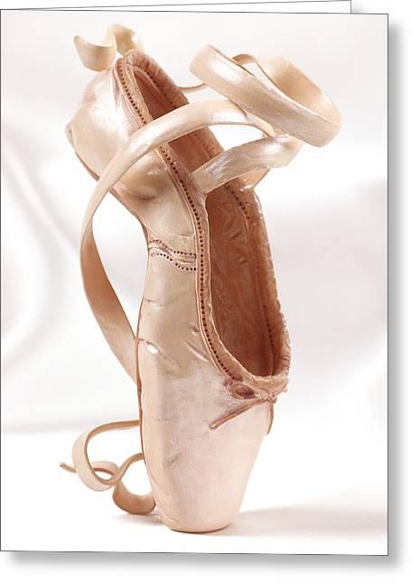 Ballerinas Greeting Cards - Ballet Shoe Greeting Card by Kitty Ellis