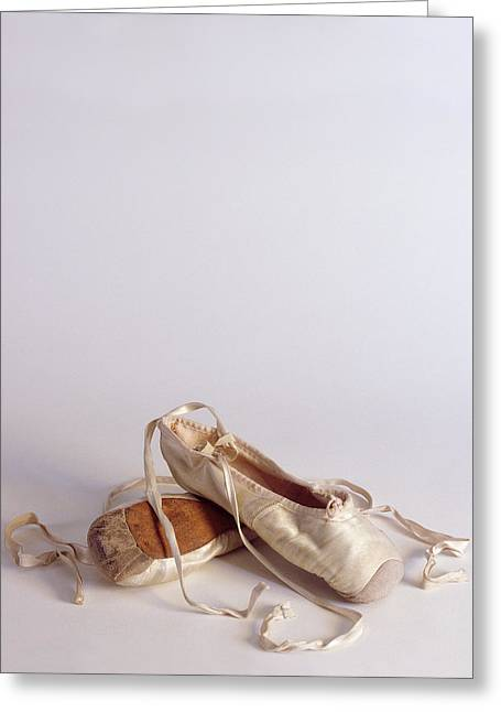Ballet Shoes Greeting Cards - Ballet Shoes on White Greeting Card by Jon Neidert