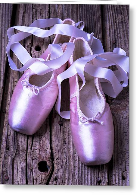 Footwear Greeting Cards - Ballet slippers Greeting Card by Garry Gay