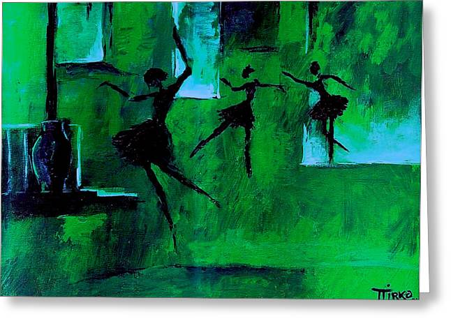 Ballet Vert Greeting Card by Mirko Gallery