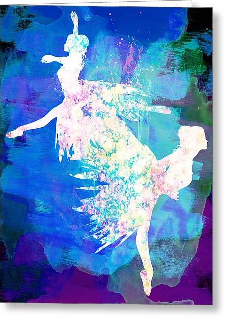 Ballet Art Greeting Cards - Ballet Watercolor 2 Greeting Card by Naxart Studio
