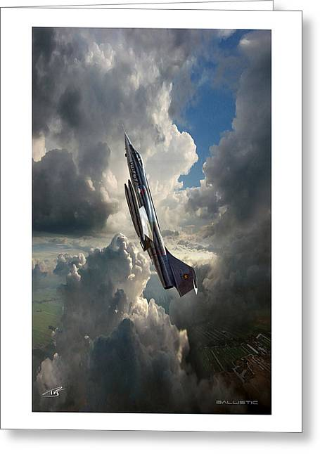 Storm Prints Digital Art Greeting Cards - Ballistic Greeting Card by Peter Van Stigt