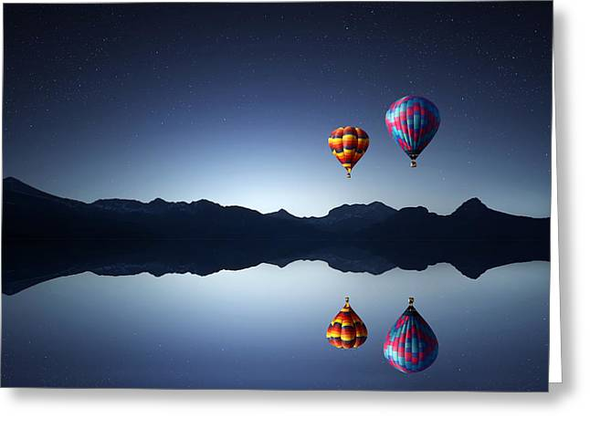 Above Greeting Cards - Ballons Greeting Card by Bess Hamiti