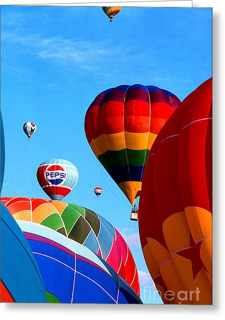 Transparency Geometric Greeting Cards - Balloon 8 Greeting Card by Rich Killion