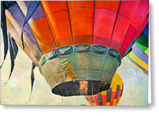 Rally Greeting Cards - Balloon Banner Greeting Card by Betsy C  Knapp