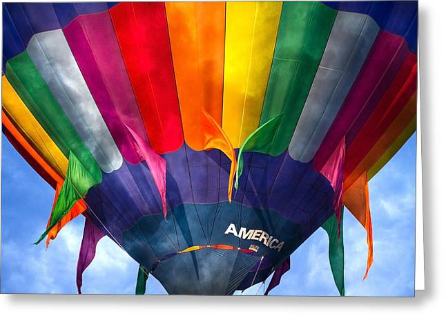 Spectrum Greeting Cards - Balloon  Greeting Card by Betsy A  Cutler