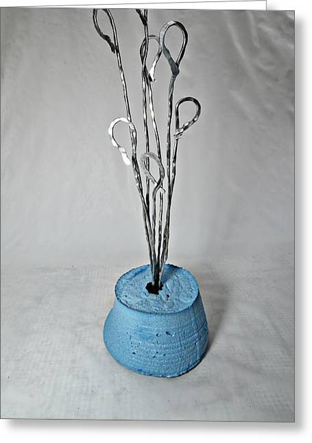 Silver Sculptures Greeting Cards - Balloon Bouquet Greeting Card by Vincent Felice