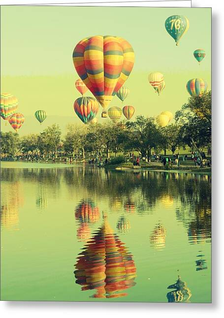Frizzell Greeting Cards - Balloon Classic Greeting Card by Michelle Frizzell-Thompson