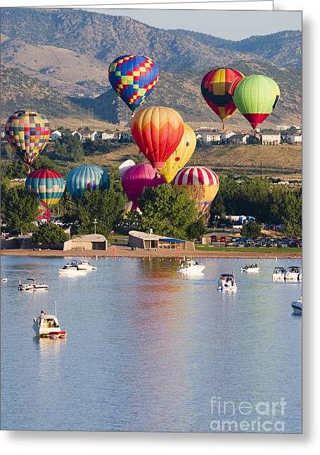 Snow Capped Greeting Cards - Balloon Collage Greeting Card by Steve Krull