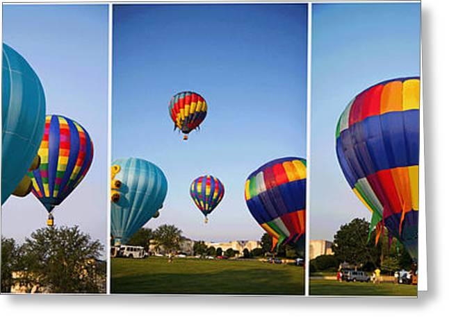 Rally Greeting Cards - Balloon Festival Panels Greeting Card by Betsy C  Knapp