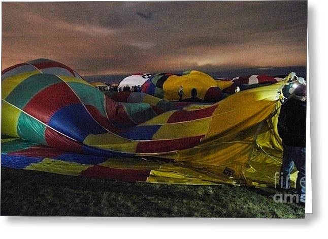 Balloon Fiesta Greeting Cards - Balloon Fiesta 1 Greeting Card by Matt Suess