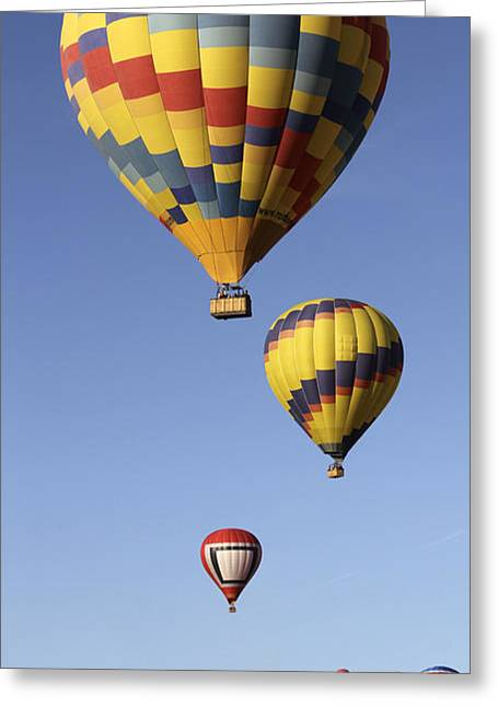2012 Digital Art Greeting Cards - Balloon Fiesta 2012 Greeting Card by Mike McGlothlen