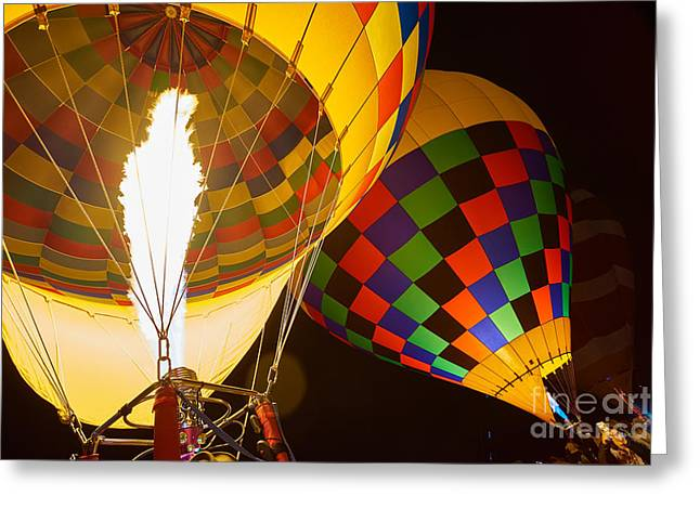 Balloon Fiesta Greeting Cards - Balloon Fiesta 4 Greeting Card by Matt Suess