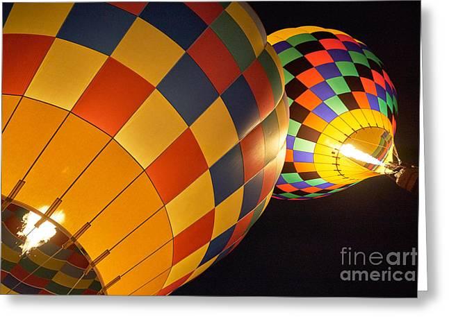 Balloon Fiesta Greeting Cards - Balloon Fiesta 6 Greeting Card by Matt Suess