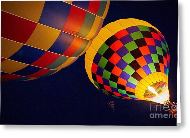 Balloon Fiesta Greeting Cards - Balloon Fiesta 7 Greeting Card by Matt Suess