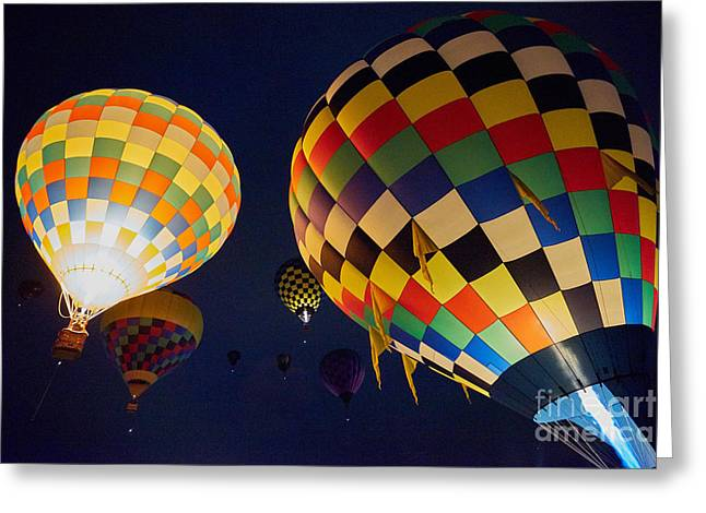 Balloon Fiesta Greeting Cards - Balloon Fiesta 8 Greeting Card by Matt Suess