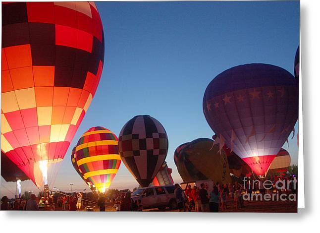 Balloon-glow-7783 Greeting Card by Gary Gingrich Galleries