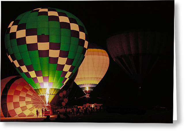 Reebok Greeting Cards - Balloon Glow Greeting Card by Donna Vasquez