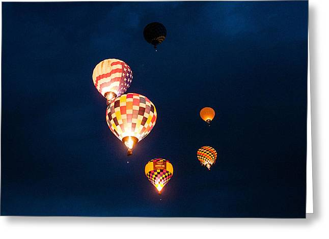 BALLOON GLOW Greeting Card by Linda Pulvermacher