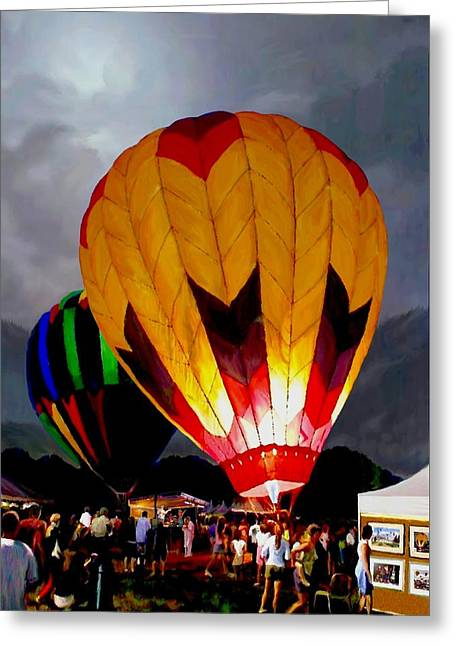 Still-life With A Basket Greeting Cards - Balloon Glow Greeting Card by Ronald Chambers
