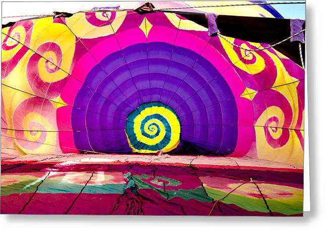 Helicopter Photographs Greeting Cards - Balloon Hypnosis Greeting Card by Greg Fortier