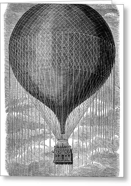 Balloon 'le Geant' Greeting Card by Science Photo Library