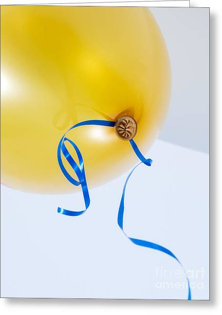 Helium Greeting Cards - Balloon navel Greeting Card by Sinisa Botas