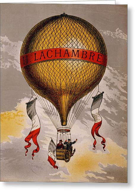 Chromolithograph Greeting Cards - Balloon Greeting Card by Nomad Art And  Design