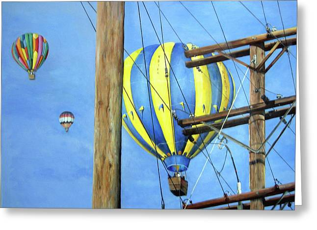 Donna Tucker Greeting Cards - Balloon Race Greeting Card by Donna Tucker