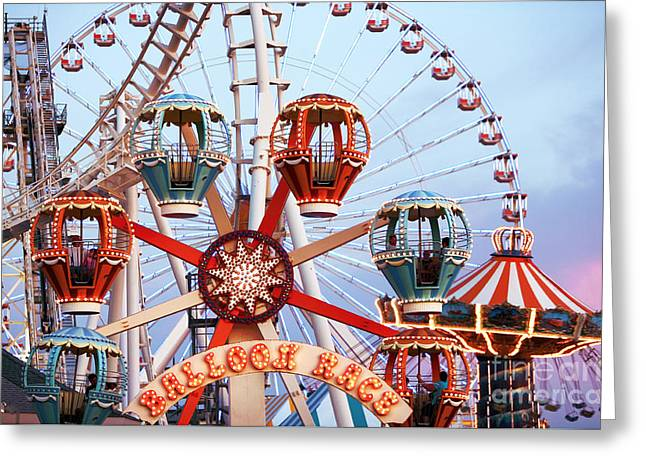 Wildwood Greeting Cards - Balloon Race Greeting Card by John Rizzuto
